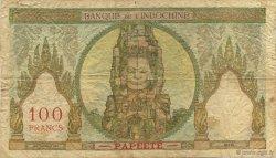 100 Francs TAHITI  1956 KM.513d TB+
