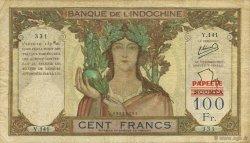 100 Francs TAHITI  1963 KM.514 TB+