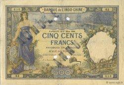 500 Francs TAHITI  1926 KM.515b TTB