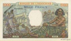 1000 Francs TAHITI  1957 KM.516cs NEUF
