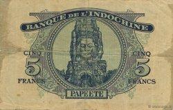 5 Francs TAHITI  1944 KM.517a pr.TTB