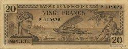 20 Francs TAHITI  1944 P.20a SUP
