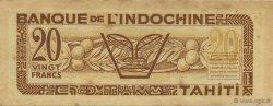 20 Francs TAHITI  1944 KM.518s SUP