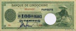 100 Francs TAHITI  1943 P.17b SUP