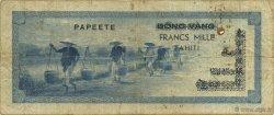1000 Francs TAHITI  1954 P.22 TB