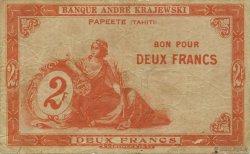 2 Francs TAHITI  1920 KM.538 TTB