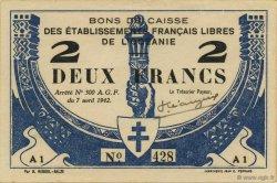 2 Francs OCÉANIE  1942 P.09 SPL