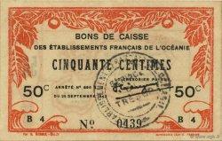 50 Centimes OCÉANIE  1943 P.10a SPL