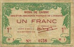 1 Franc TAHITI  1943 KM.559a TTB
