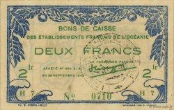 2 Francs TAHITI  1943 P.12a pr.SPL