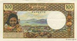 100 Francs TAHITI  1969 K.809 pr.SUP