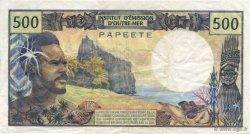 500 Francs TAHITI  1982 P.25B TTB+