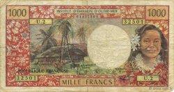 1000 Francs TAHITI  1977 P.27b TB