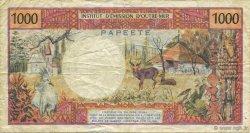 1000 Francs TAHITI  1982 P.27c TB