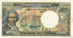 5000 Francs TAHITI  1985 P.28d NEUF