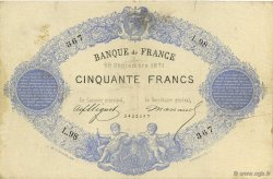 50 Francs 1868, INDICES NOIRS FRANCE  1871 F.A38.05 TB+