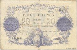 20 Francs type 1871 FRANCE  1872 F.A46.04 TB+