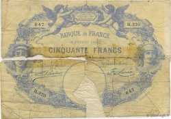 50 Francs 1884, INDICES NOIRS FRANCE  1886 F.A47.03 AB