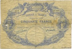 50 Francs 1884, INDICES NOIRS FRANCE  1889 F.A47.05 B