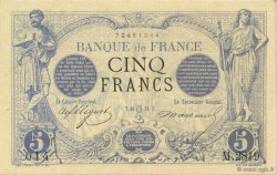 5 Francs NOIR FRANCE  1873 F.01.20 SUP à SPL