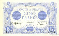 5 Francs BLEU FRANCE  1913 F.02.21 SUP+