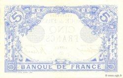 5 Francs BLEU FRANCE  1915 F.02.26 SPL