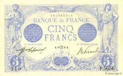 5 Francs BLEU FRANCE  1915 F.02.27 SPL