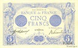 5 Francs BLEU FRANCE  1915 F.02.27 SPL