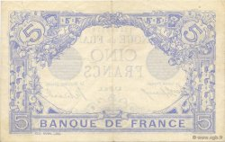 5 Francs BLEU FRANCE  1915 F.02.28 pr.SUP