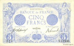 5 Francs BLEU FRANCE  1916 F.02.39 SPL