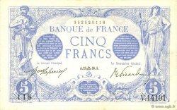 5 Francs BLEU FRANCE  1916 F.02.43 pr.NEUF
