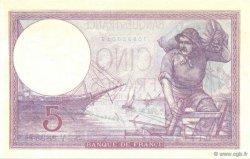 5 Francs VIOLET FRANCE  1927 F.03.11 pr.NEUF
