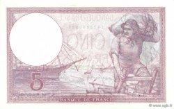 5 Francs VIOLET modifié FRANCE  1939 F.04.02 SPL+