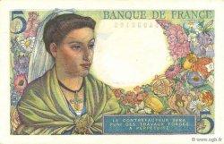 5 Francs BERGER FRANCE  1943 F.05.01 NEUF