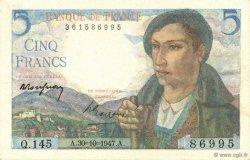 5 Francs BERGER FRANCE  1947 F.05.07 pr.SPL