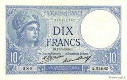 10 Francs MINERVE FRANCE  1930 F.06.14 SPL+
