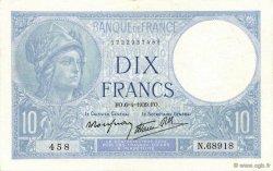 10 Francs MINERVE modifié FRANCE  1939 F.07.02 SUP+