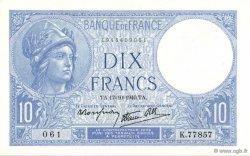 10 Francs MINERVE modifié FRANCE  1940 F.07.17 pr.NEUF