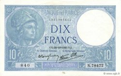 10 Francs MINERVE modifié FRANCE  1940 F.07.18 pr.NEUF
