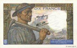 10 Francs MINEUR FRANCE  1941 F.08.00 SPL+
