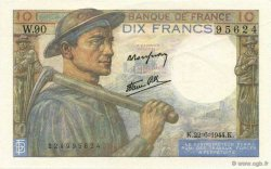 10 Francs MINEUR FRANCE  1944 F.08.12 SPL+