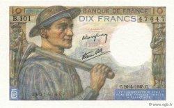 10 Francs MINEUR FRANCE  1945 F.08.14 NEUF