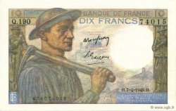 10 Francs MINEUR FRANCE  1949 F.08.21 SPL
