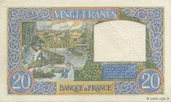 20 Francs SCIENCE ET TRAVAIL FRANCE  1939 F.12.00 pr.SPL