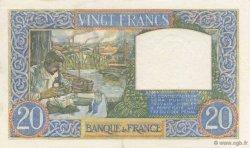 20 Francs SCIENCE ET TRAVAIL FRANCE  1940 F.12.11 SUP