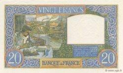 20 Francs SCIENCE ET TRAVAIL FRANCE  1941 F.12.13 SPL+