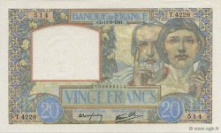 20 Francs SCIENCE ET TRAVAIL FRANCE  1941 F.12.15 SPL+
