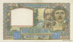 20 Francs SCIENCE ET TRAVAIL FRANCE  1941 F.12.17 SPL