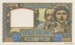 20 Francs SCIENCE ET TRAVAIL FRANCE  1941 F.12.19 SPL+