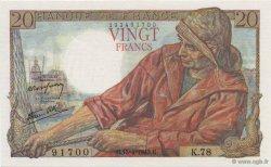 20 Francs PÊCHEUR FRANCE  1943 F.13.06 pr.NEUF